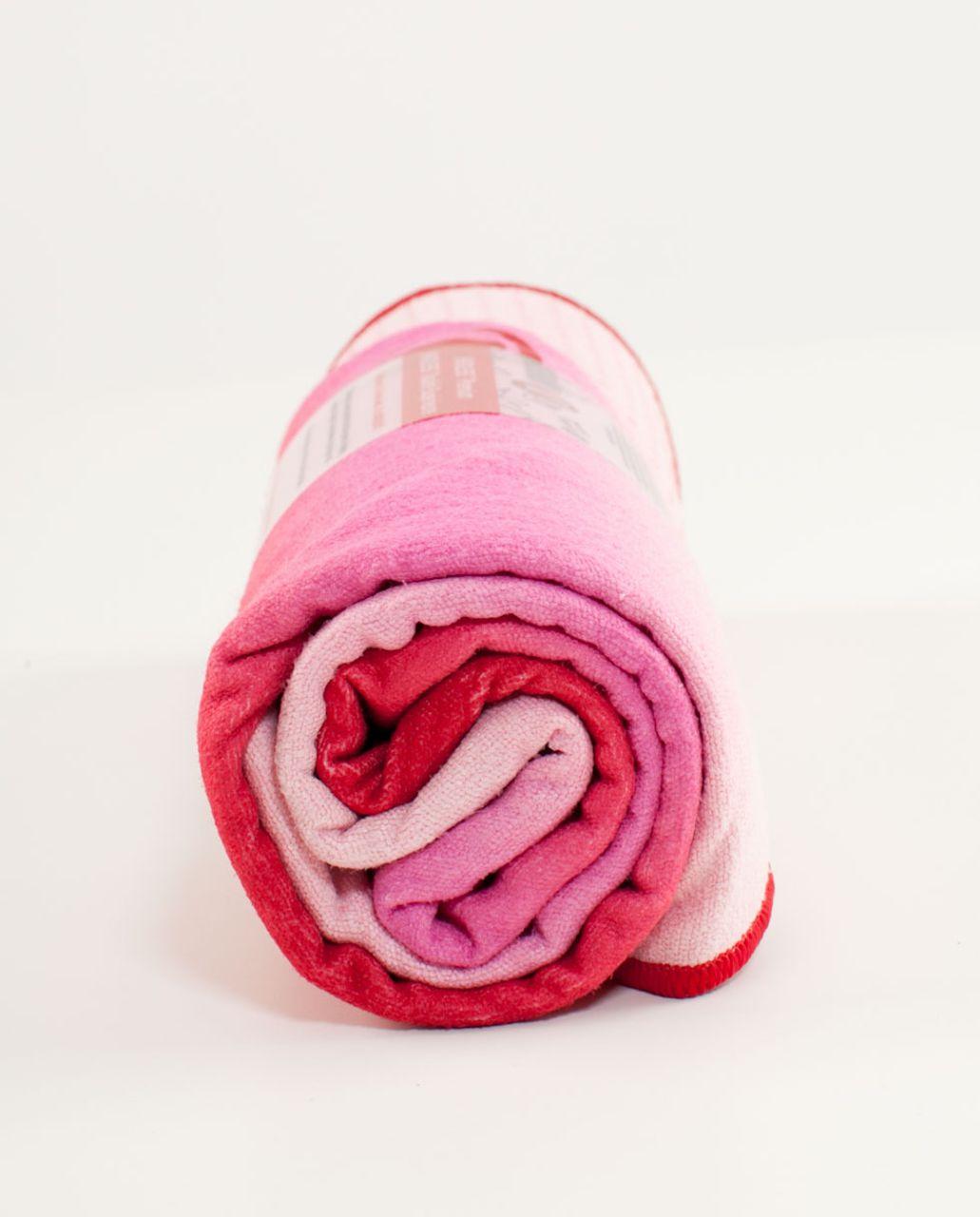 Lululemon Skidless Towel - Currant Smoky Rose Pig Pink Ombre Stripe