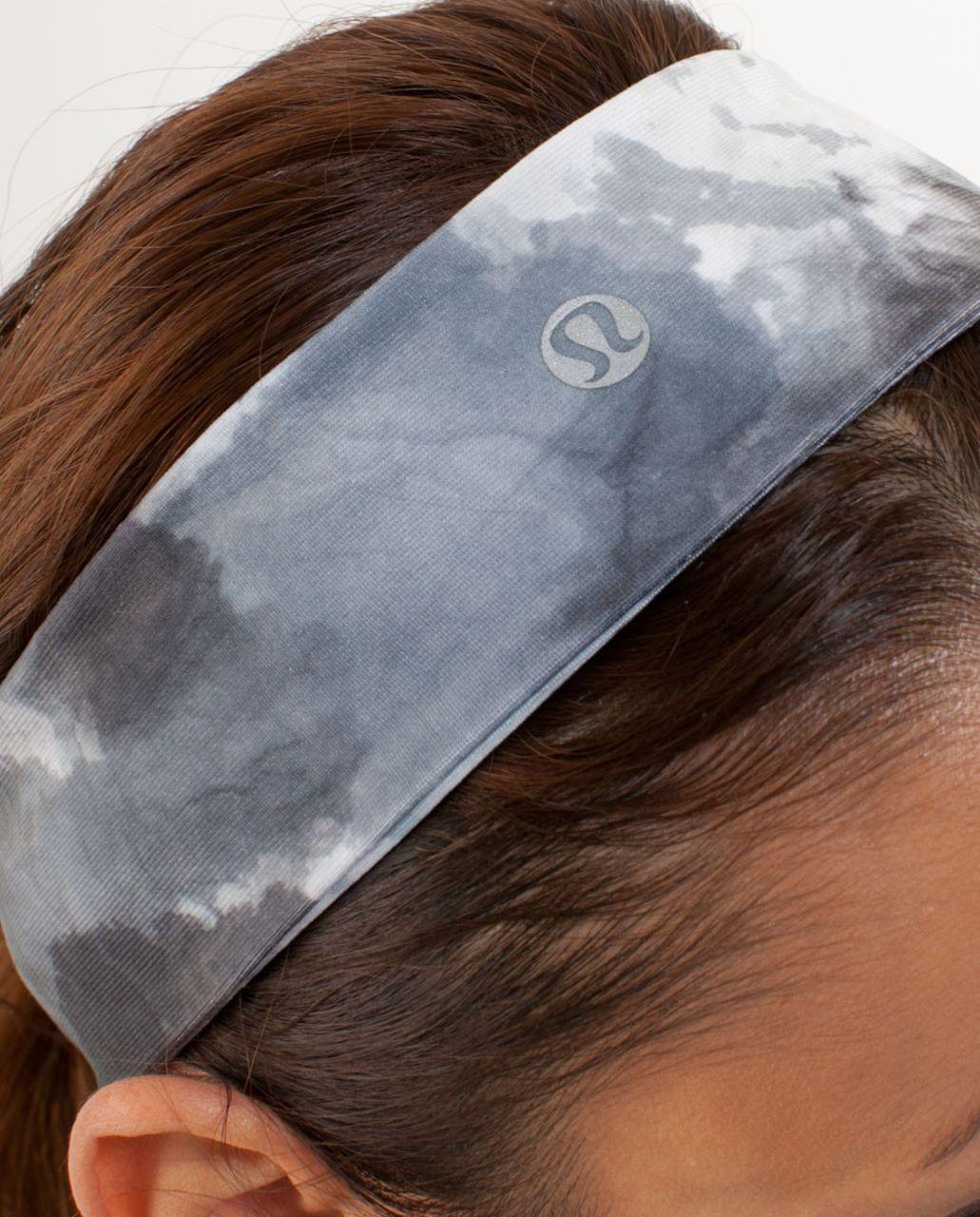 Lululemon Lucky Luon Headband - White Coal Tinted Canvas Super