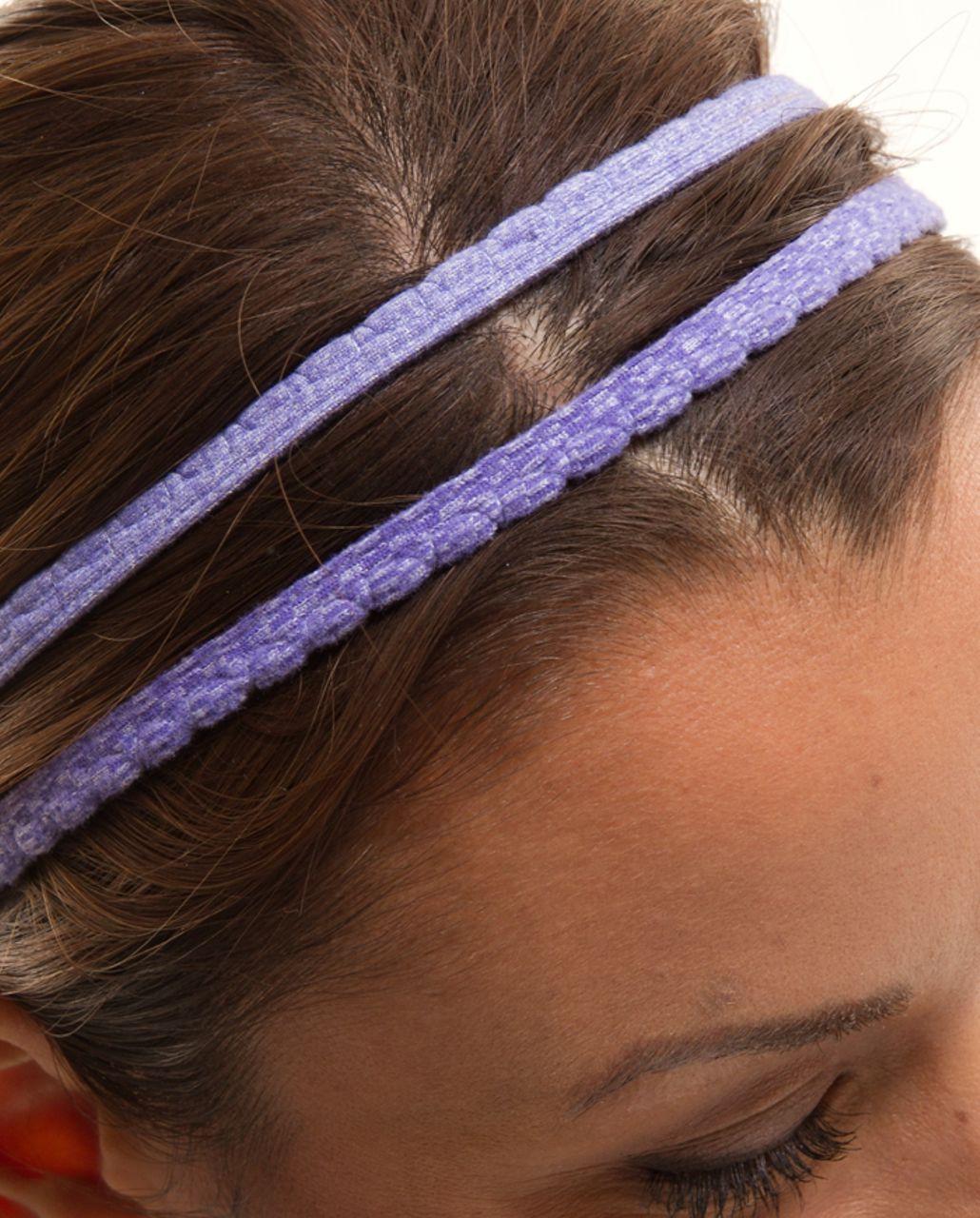 Lululemon DANCE! Headband - Heatehred Persian Purple /  Persian Purple Heatehred Persian Purple Classic Stripe