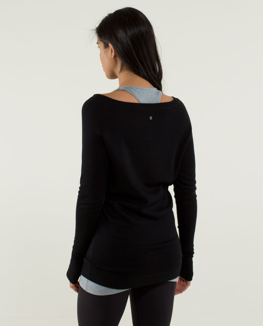 Lululemon Chai Time Pullover II - Black /  Heathered Deep Coal