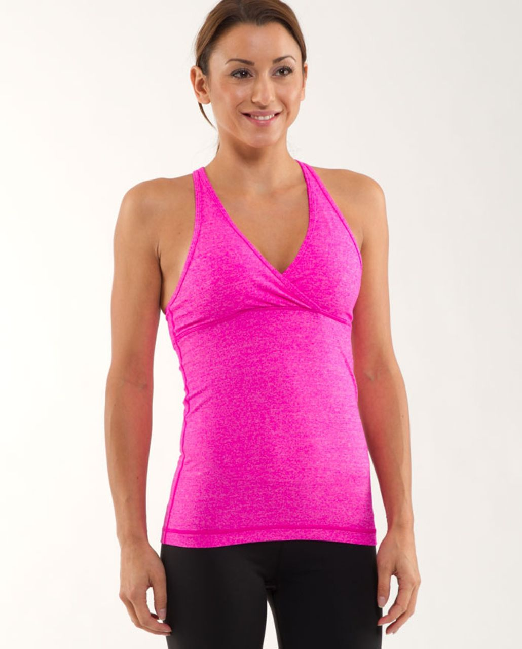 Lululemon Deep V Tank - Heathered Paris Pink