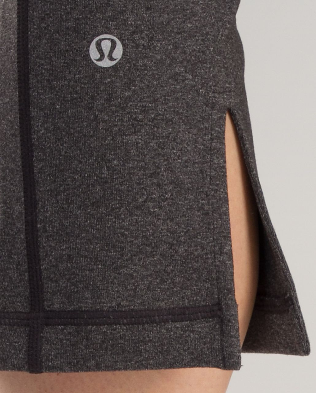 Lululemon Tadasana Slit Crop - Heathered Black /  Black