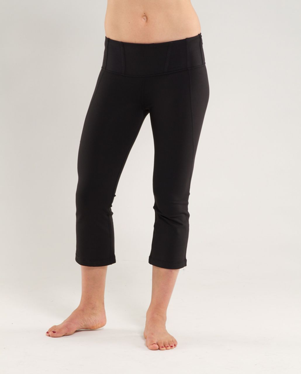 Lululemon Tadasana Slit Crop - Black