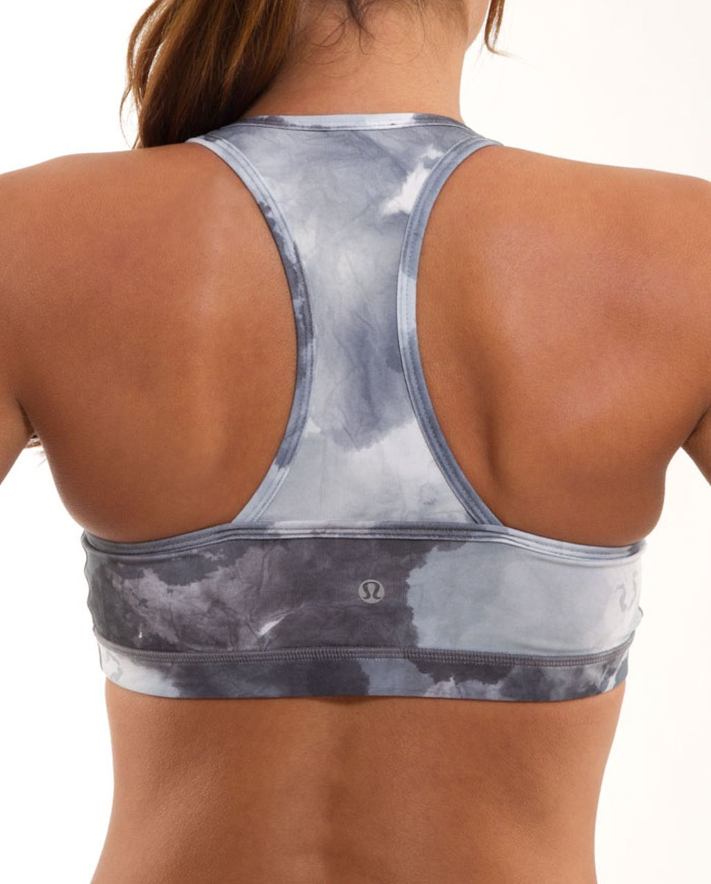 Lululemon Deep V Bra - White Coal Tinted Canvas Super