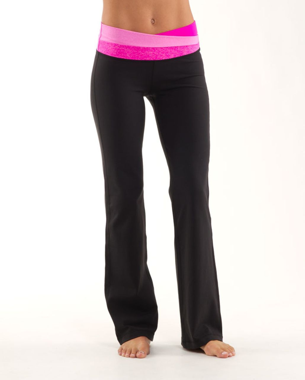 Lululemon Astro Pant (Tall) - Black /  Paris Pink /  Paris Pink White Microstripe
