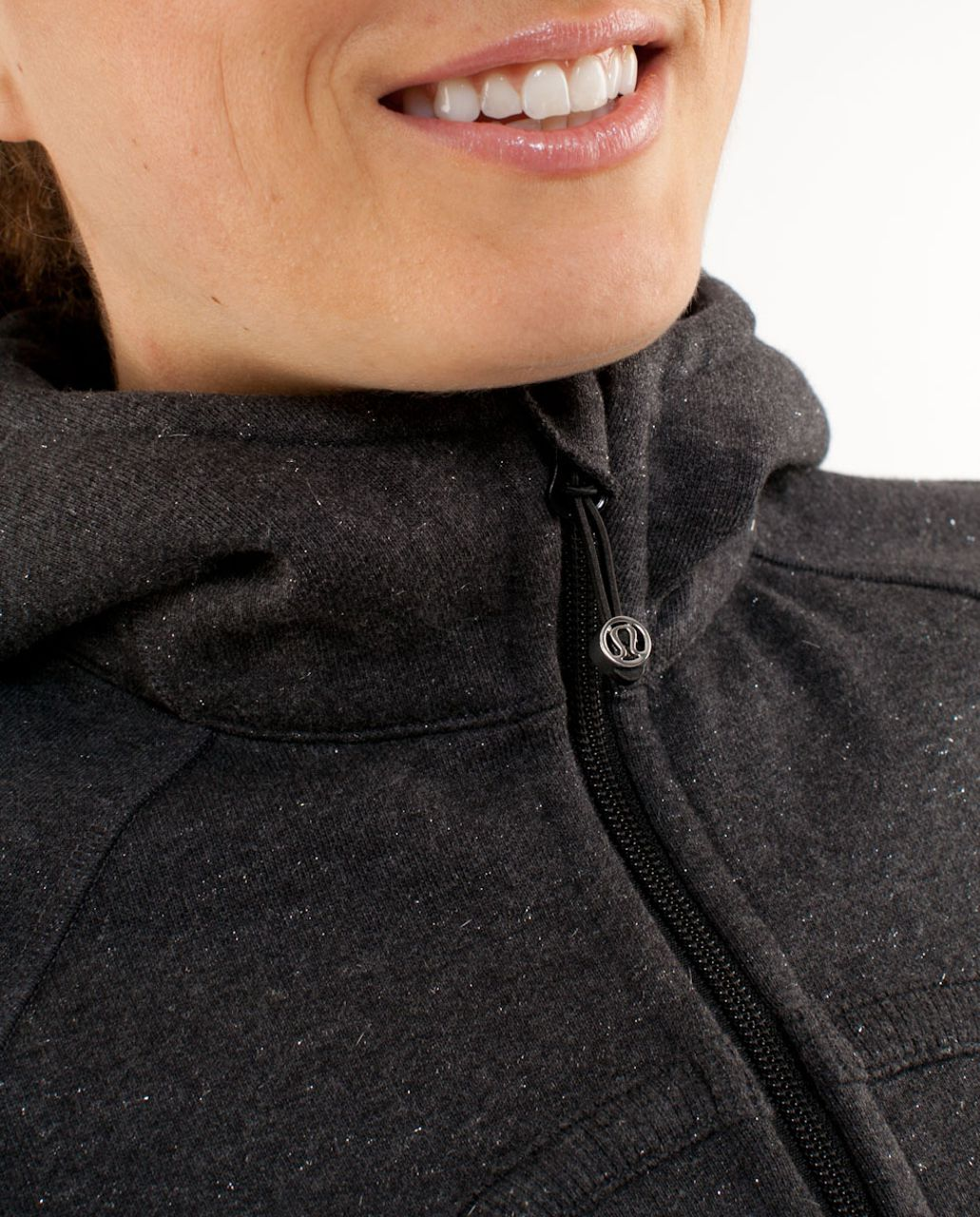 Lululemon Scuba Hoodie - Heathered Black /  Black