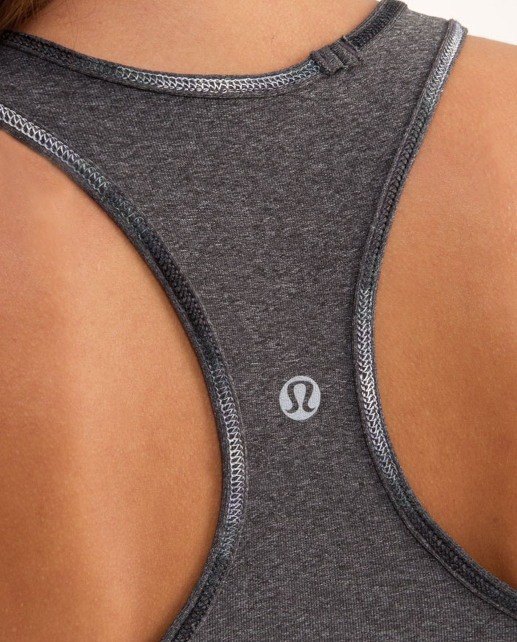 Lululemon Cool Racerback *Bonded - Heathered Deep Coal /  Black