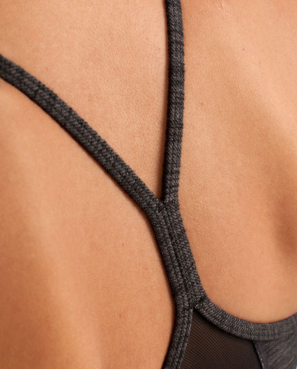 Lululemon Flow Y Bra IV *Denim - Black Slub Denim /  Black