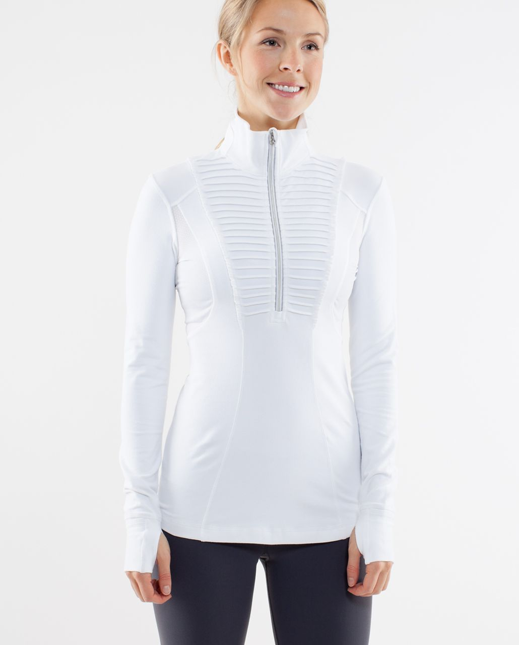 Lululemon Run:  Your Heart Out Pullover - White