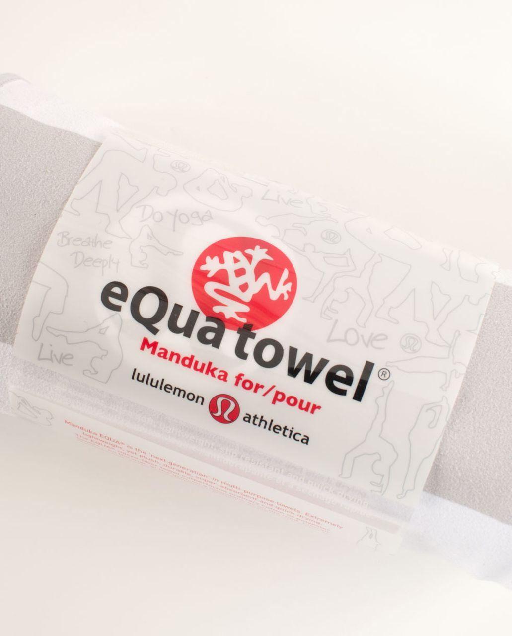 Lululemon Manduka Equa Towel (LG) - Silver Spoon White Really Bold Stripe
