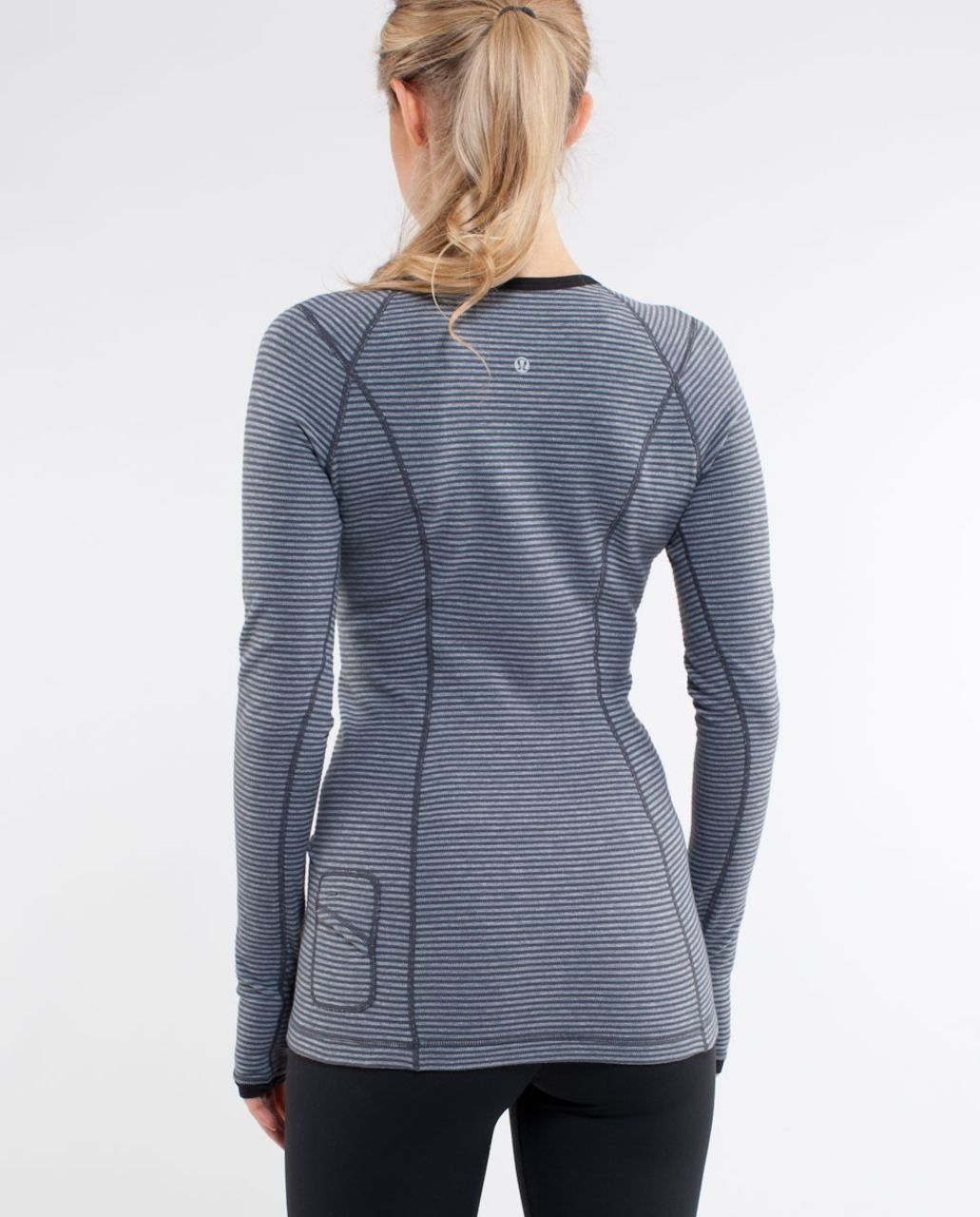Lululemon Run:  Turn Around Long Sleeve - Deep Coal Mini Check