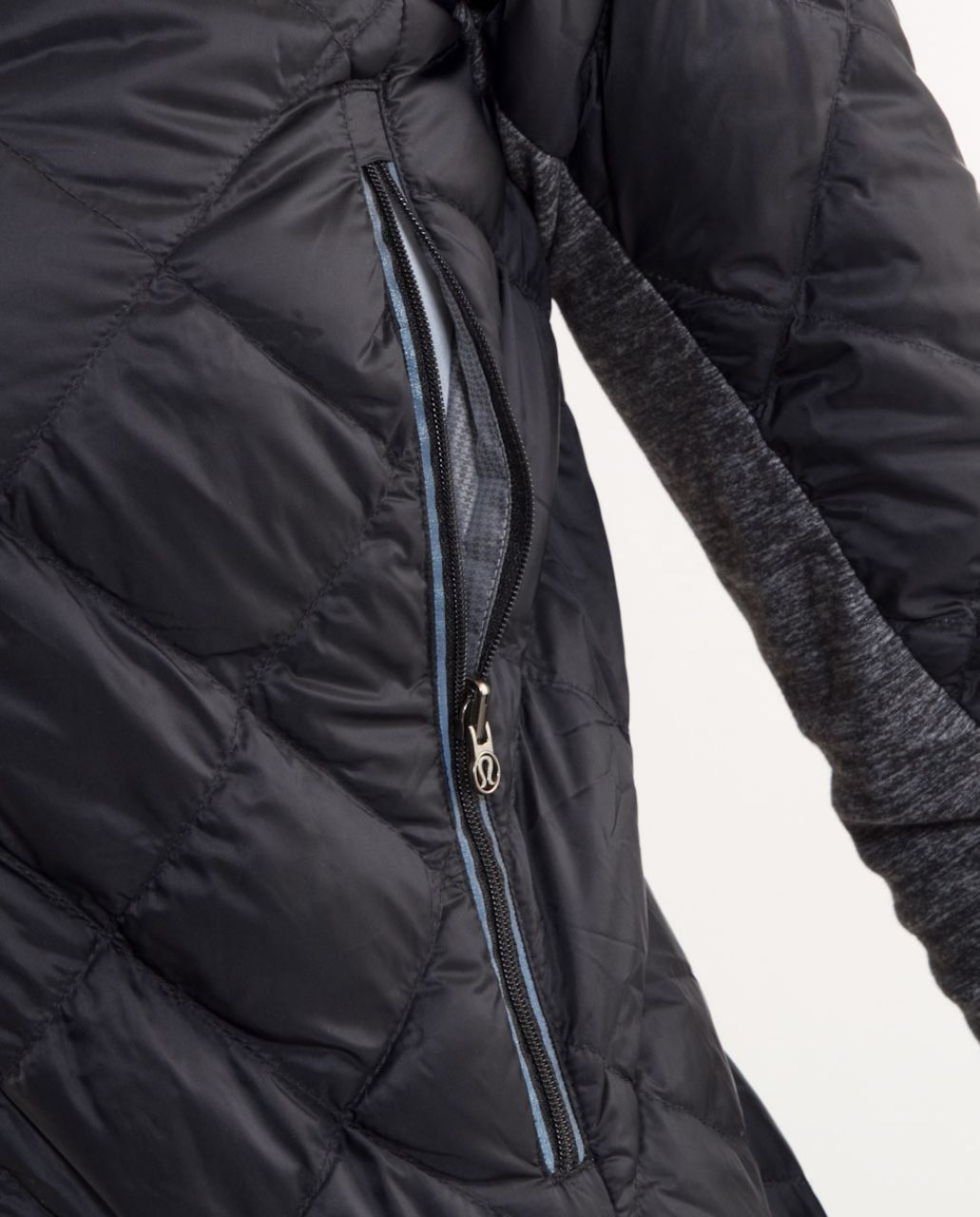 Lululemon Run:  Turn Around Jacket - Black /  Grey Houndstooth