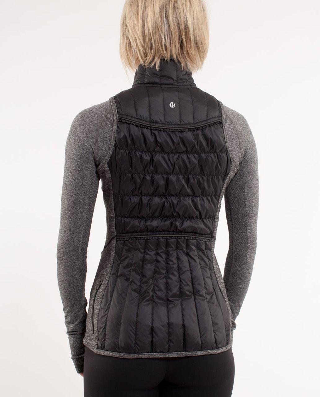 Lululemon Run:  Turn Around Vest - Black /  Heathered Black /  Grey Houndstooh