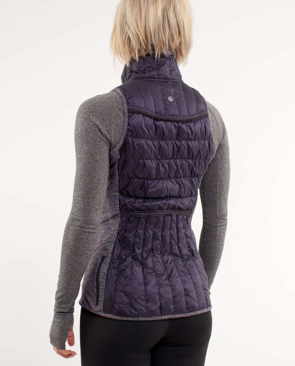 Lululemon Run:  Turn Around Vest - Black Swan /  Heathered Black Swan /  Grey Houndstooth
