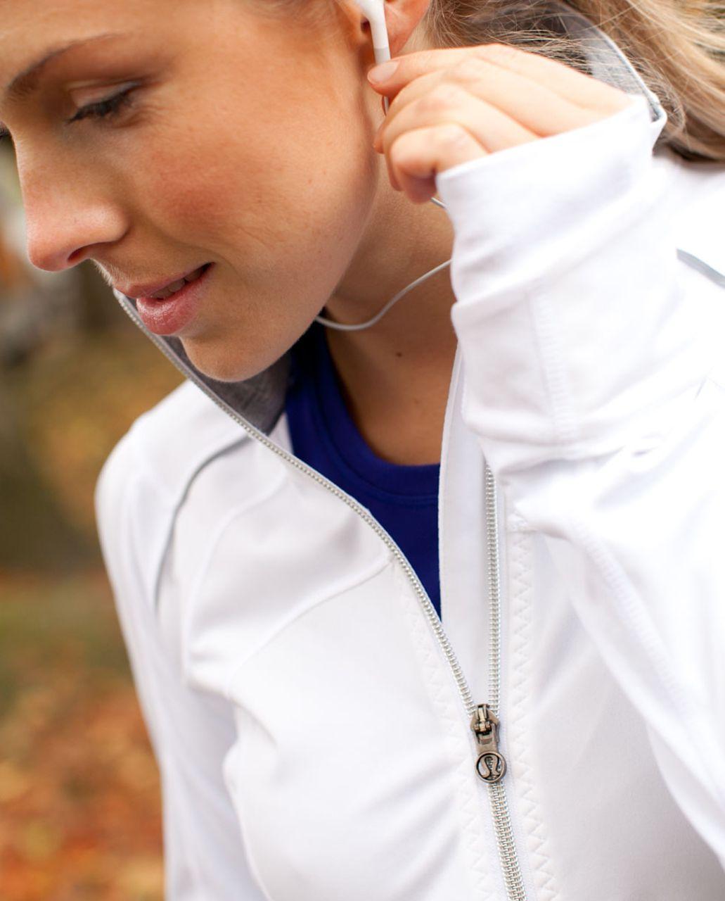 Lululemon Run:  Stay On Course Jacket - White