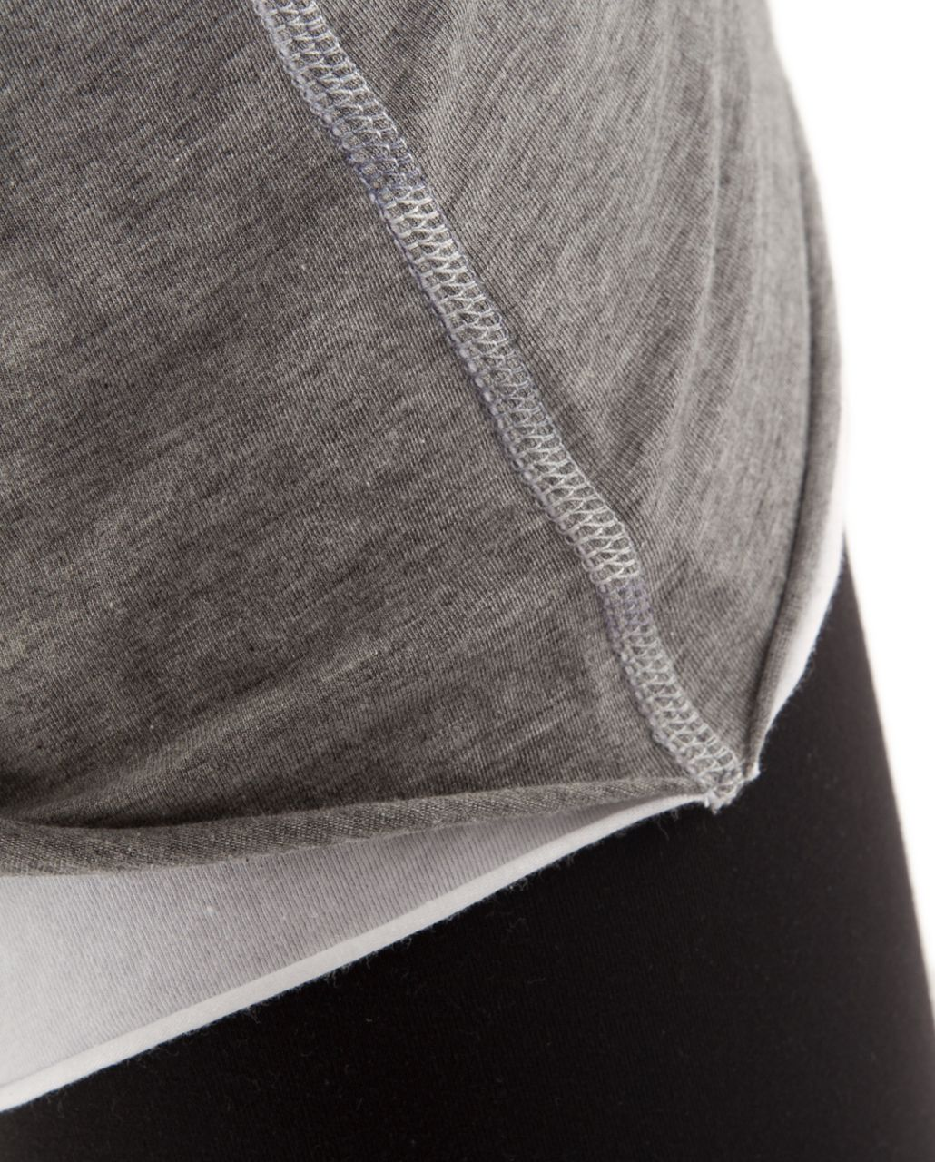Lululemon Cabin Long Sleeve Tee II - Heathered Blurred Grey /  White