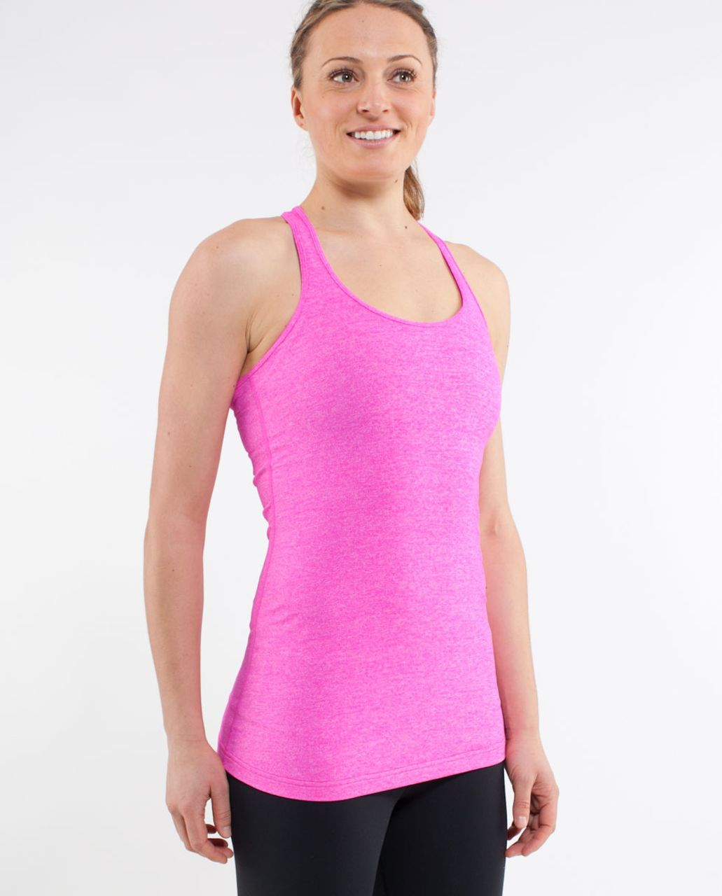 Lululemon Cool Racerback - Heathered Paris Pink
