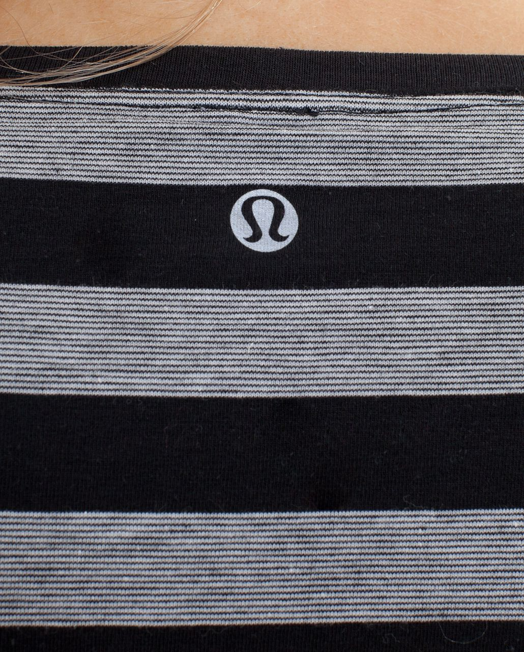 Lululemon Cabin Long Sleeve Tee II - Black Black Micro Macro Stripe /  Black