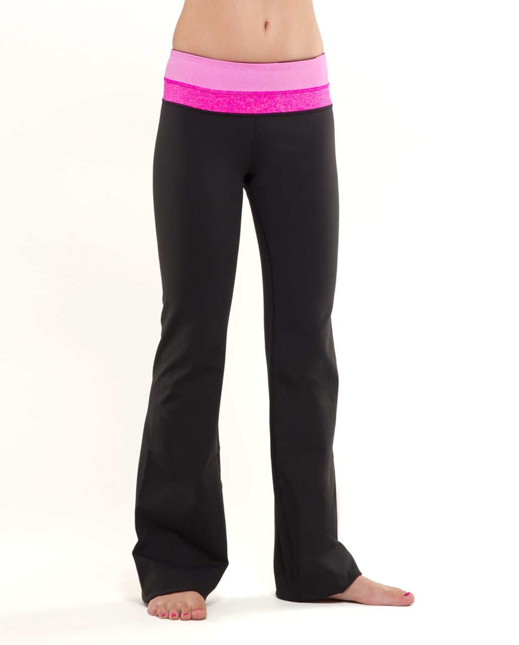 Lululemon Groove Pant (Regular) - Black /  Paris Pink White Microstripe