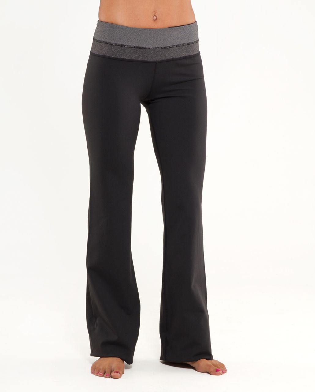 Lululemon Groove Pant (Regular) - Black /  White Black Microstripe /  Heathered Black