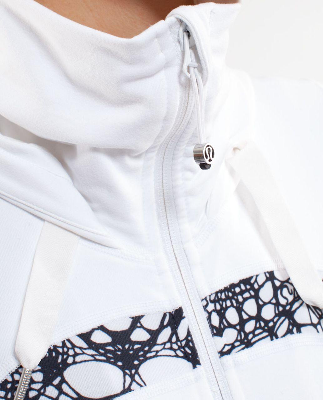 Lululemon Stride Jacket *Brushed - White /  White Black Glacier Lace