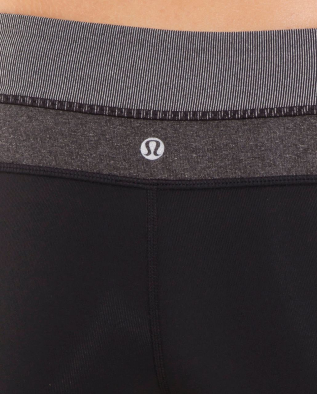 Lululemon Groove Pant (Tall) - Black /  White Black Microstripe /  Heathered Black