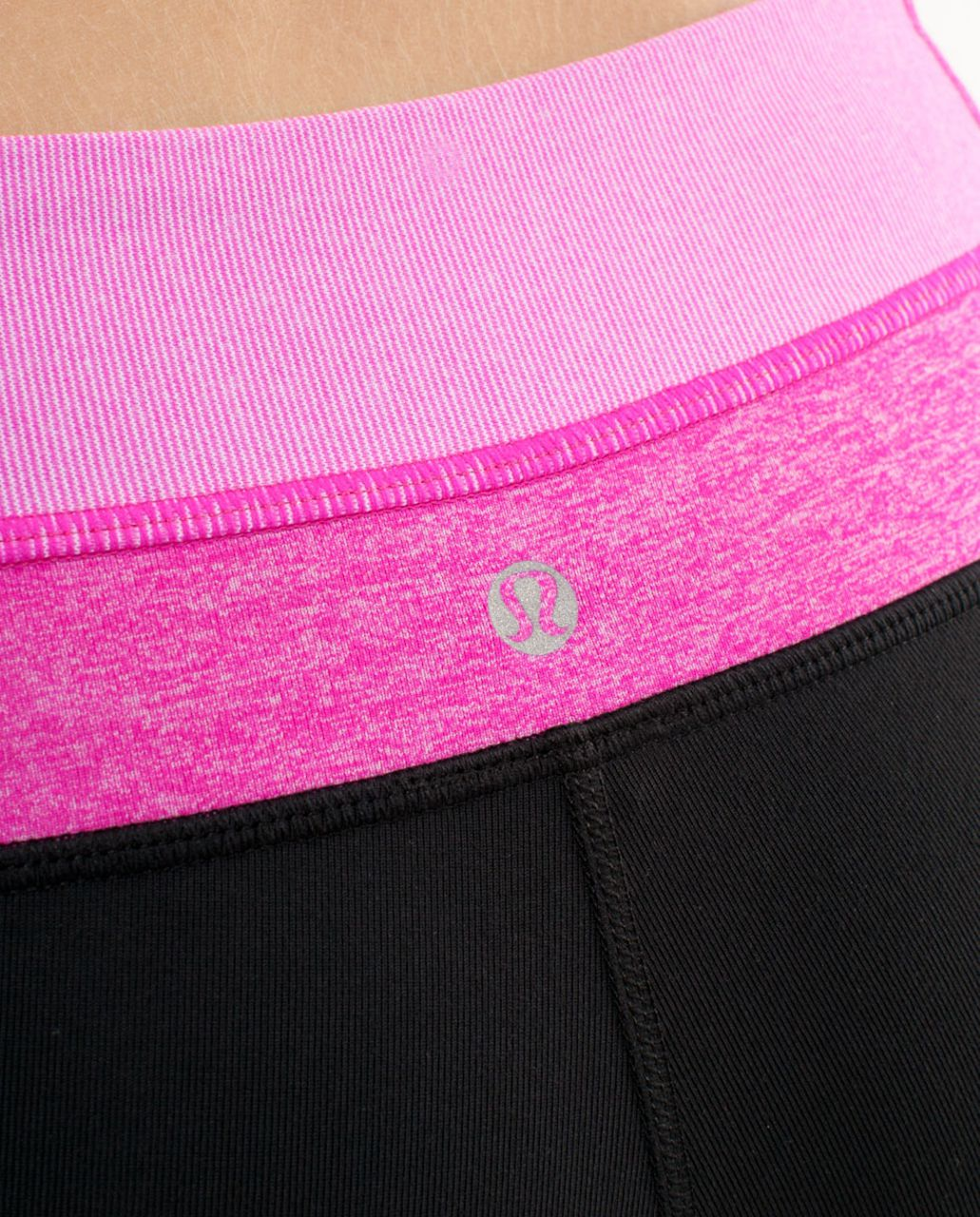 Lululemon Groove Pant (Tall) - Black /  Paris Pink White Microstripe