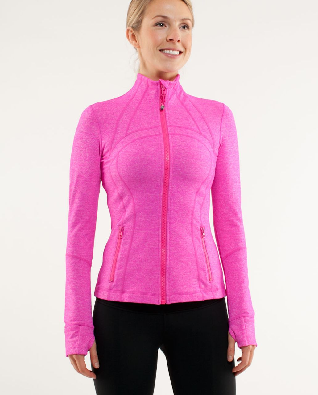 Lululemon Define Jacket *Brushed - Heathered Paris Pink /  Paris Pink White Microstripe