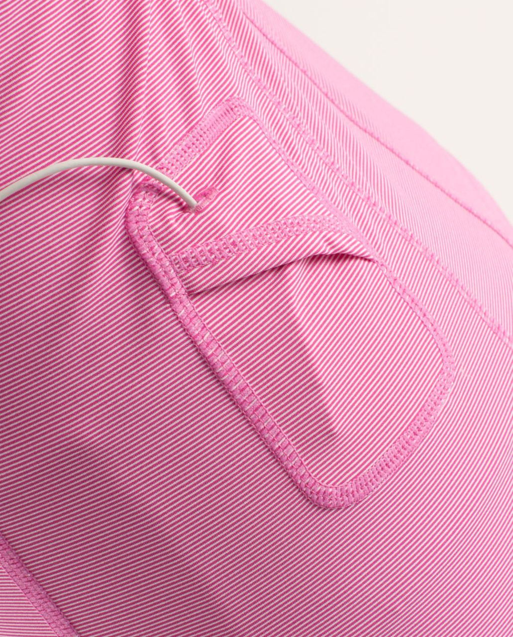 Lululemon Run:  Stay On Course Tank - Paris Pink White Microstripe