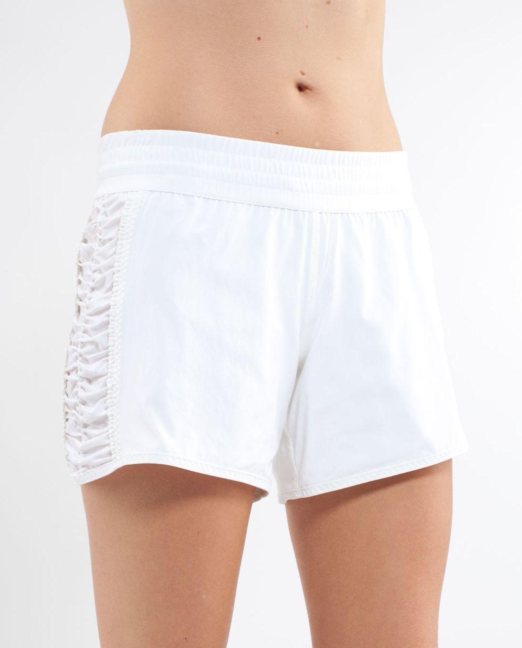 Lululemon Run:  Around Short - White