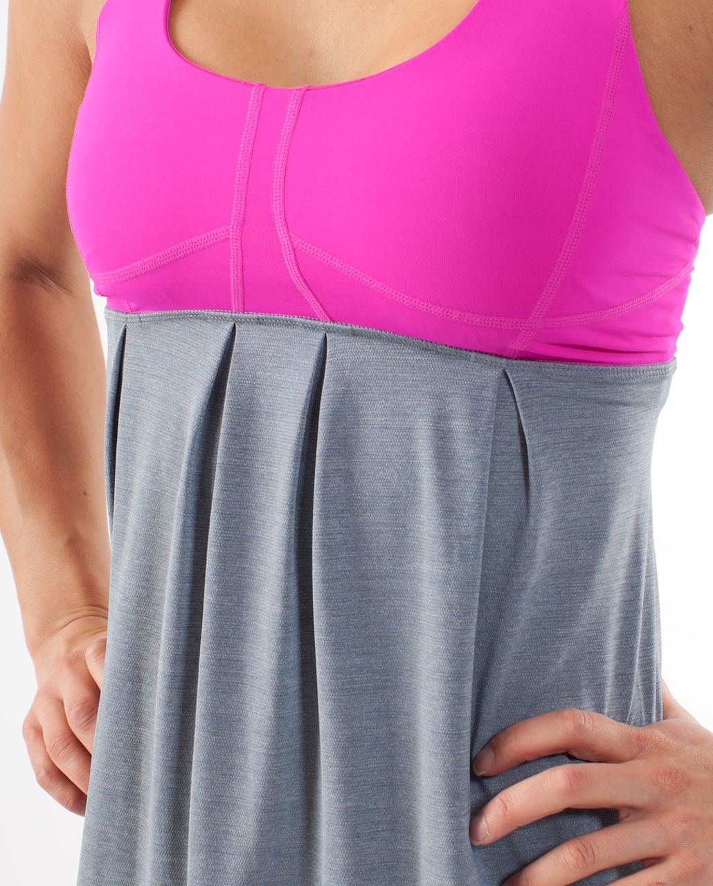 Lululemon Run:  Your Heart Out Tank - Paris Pink /  Heathered Blurred Grey