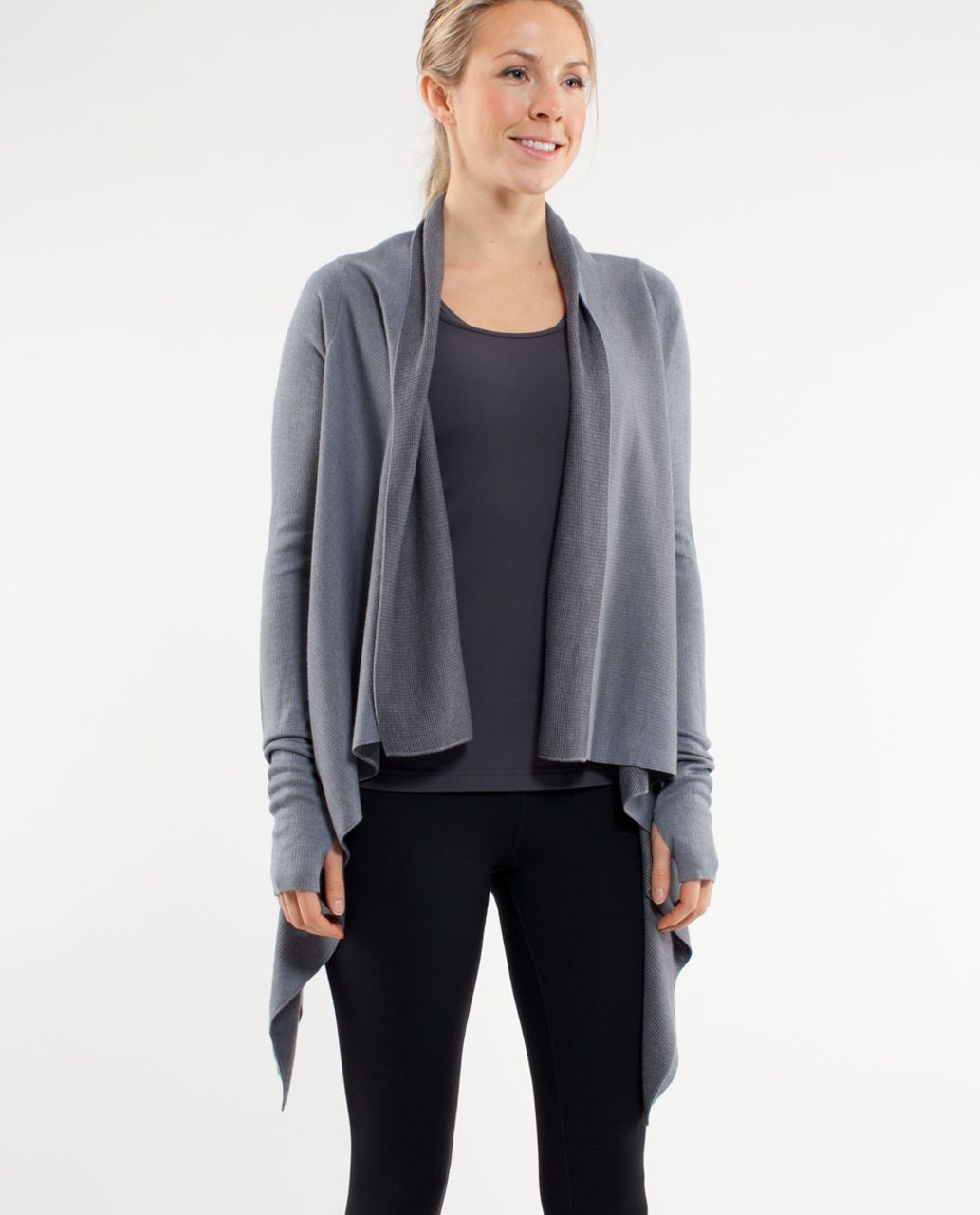 Lululemon Reflection Wrap - Heathered Blurred Grey /  Coal