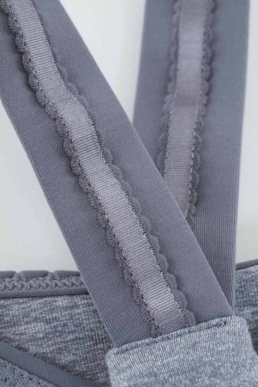 Lululemon Cross My Heart Tank - Heathered Blurred Grey /  Blurred Grey