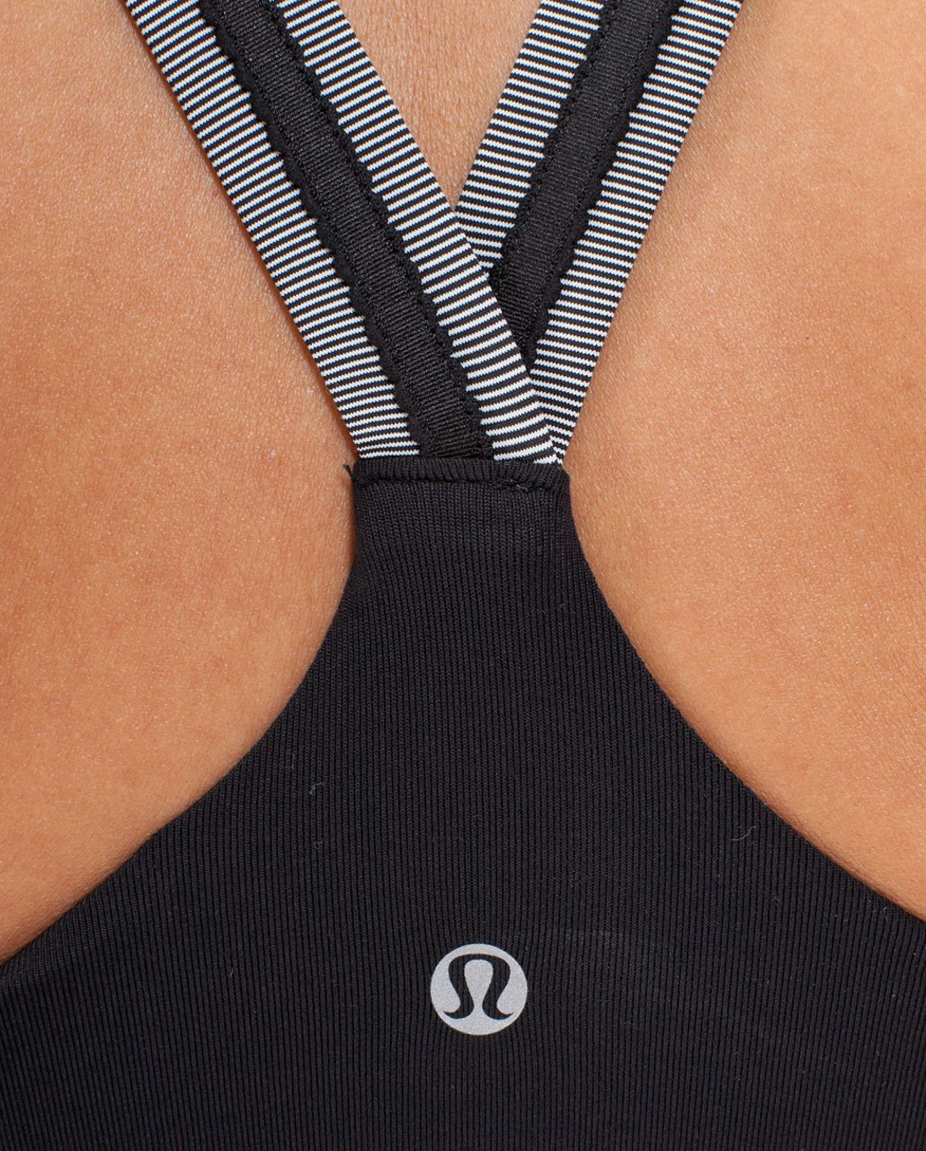 Lululemon Cross My Heart Tank - Black /  White Black Microstripe