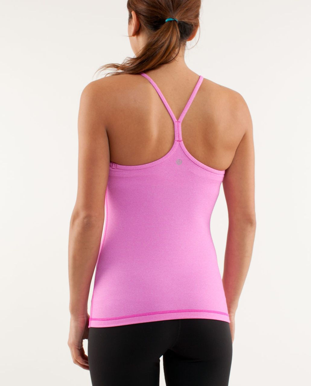 Lululemon Power Y Tank - Paris Pink White Microstripe