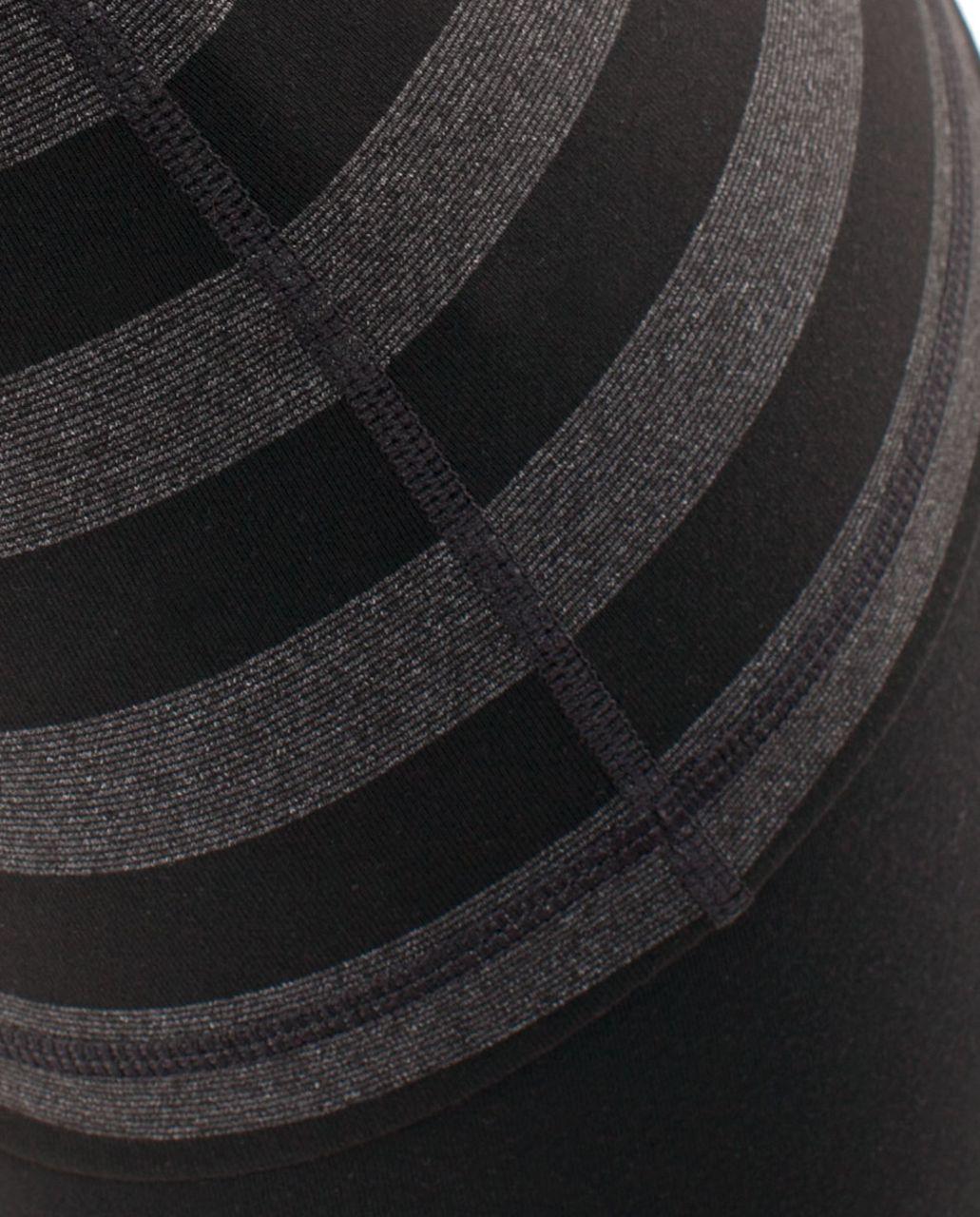 Lululemon Power Y Tank - Black Black Micro Macro Stripe