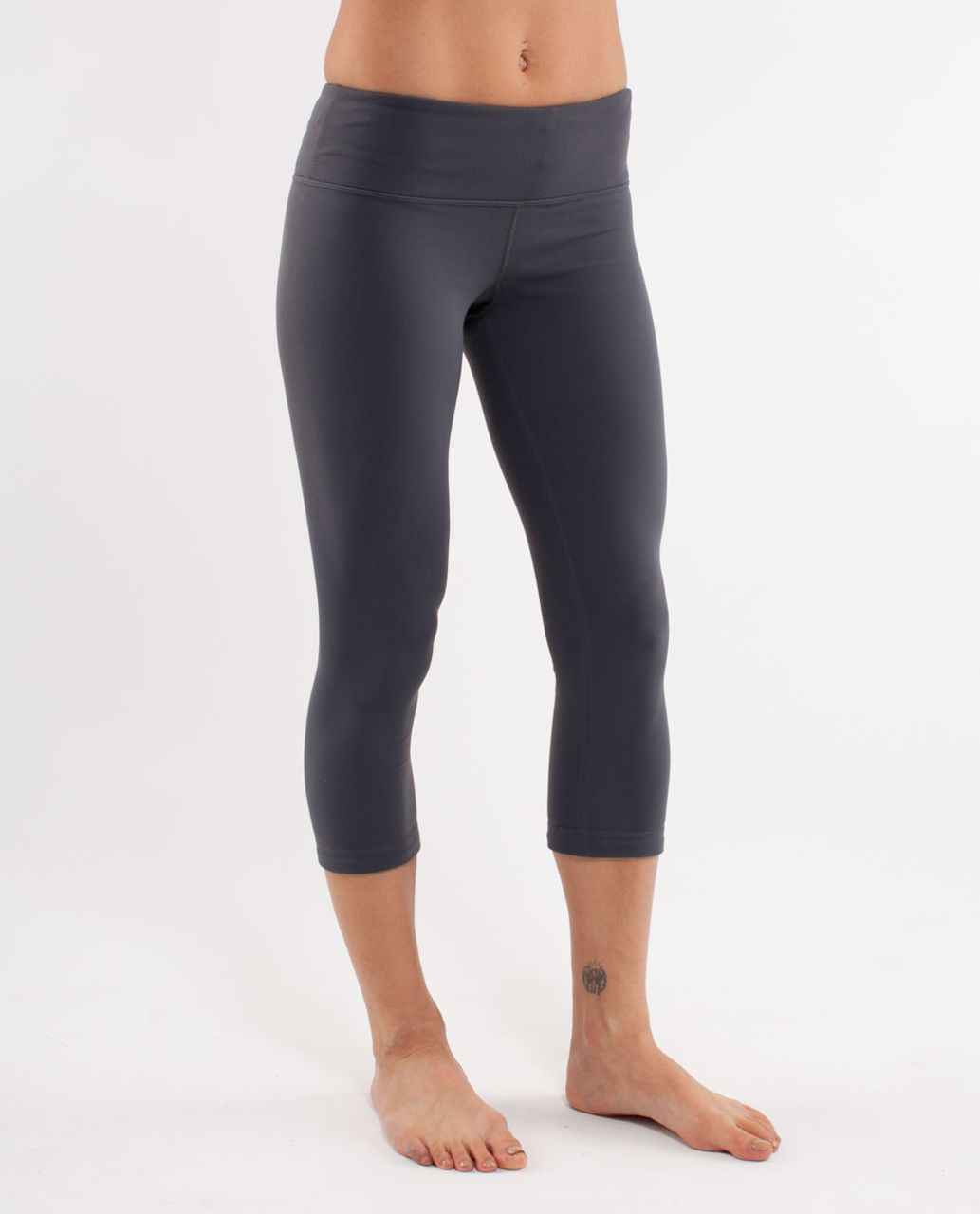 Lululemon Wunder Under Crop *Bonded - Coal /  Black