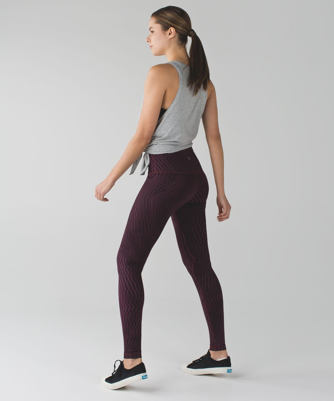 Lululemon Wunder Under Pant (Hi-Rise) - Shifted Horizon Red Grape Black