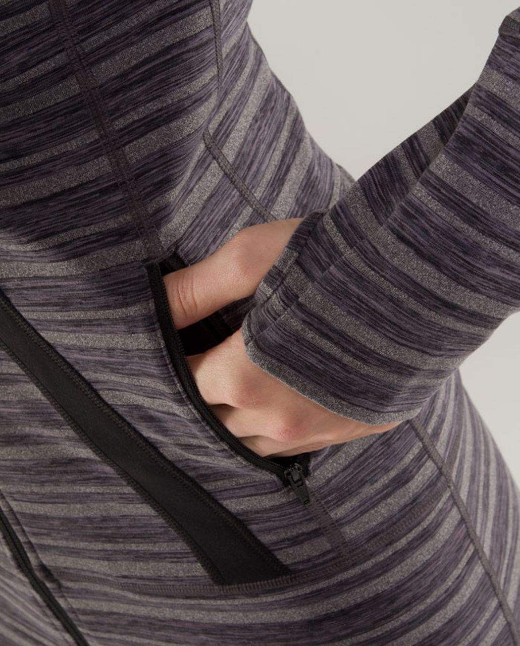 Lululemon Stride Jacket - Black Stripes Galore /  Black