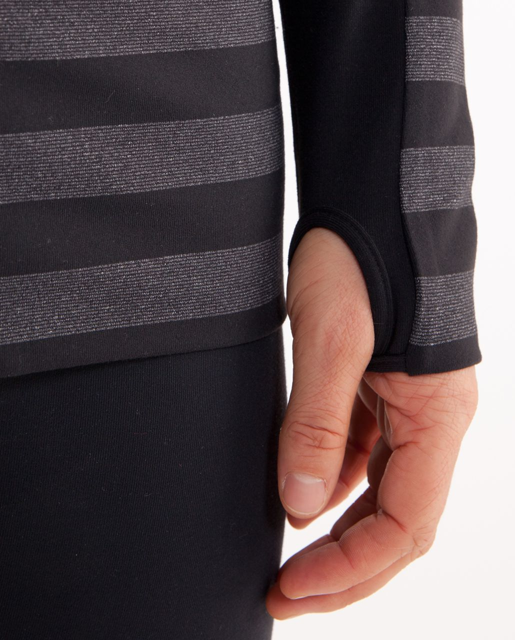 Lululemon Stride Jacket - Black Black Micro Macro Stripe /  Black