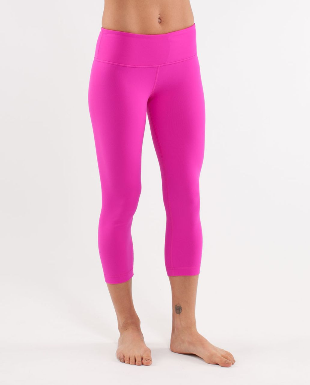 Lululemon Wunder Under Crop - Paris Pink