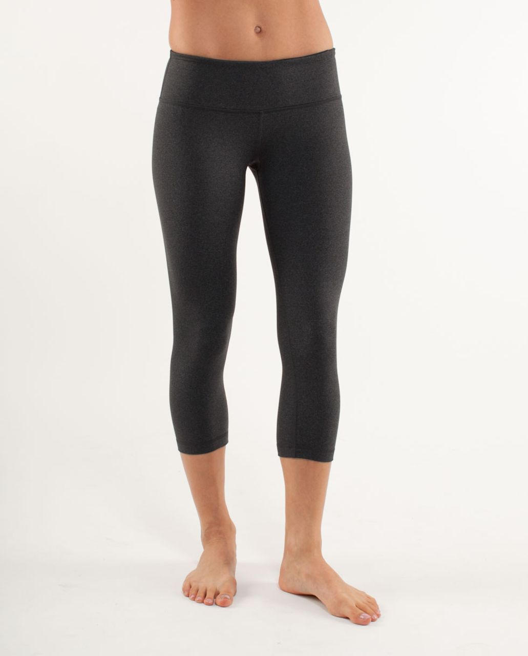 Lululemon Wunder Under Crop - Heathered Charcoal