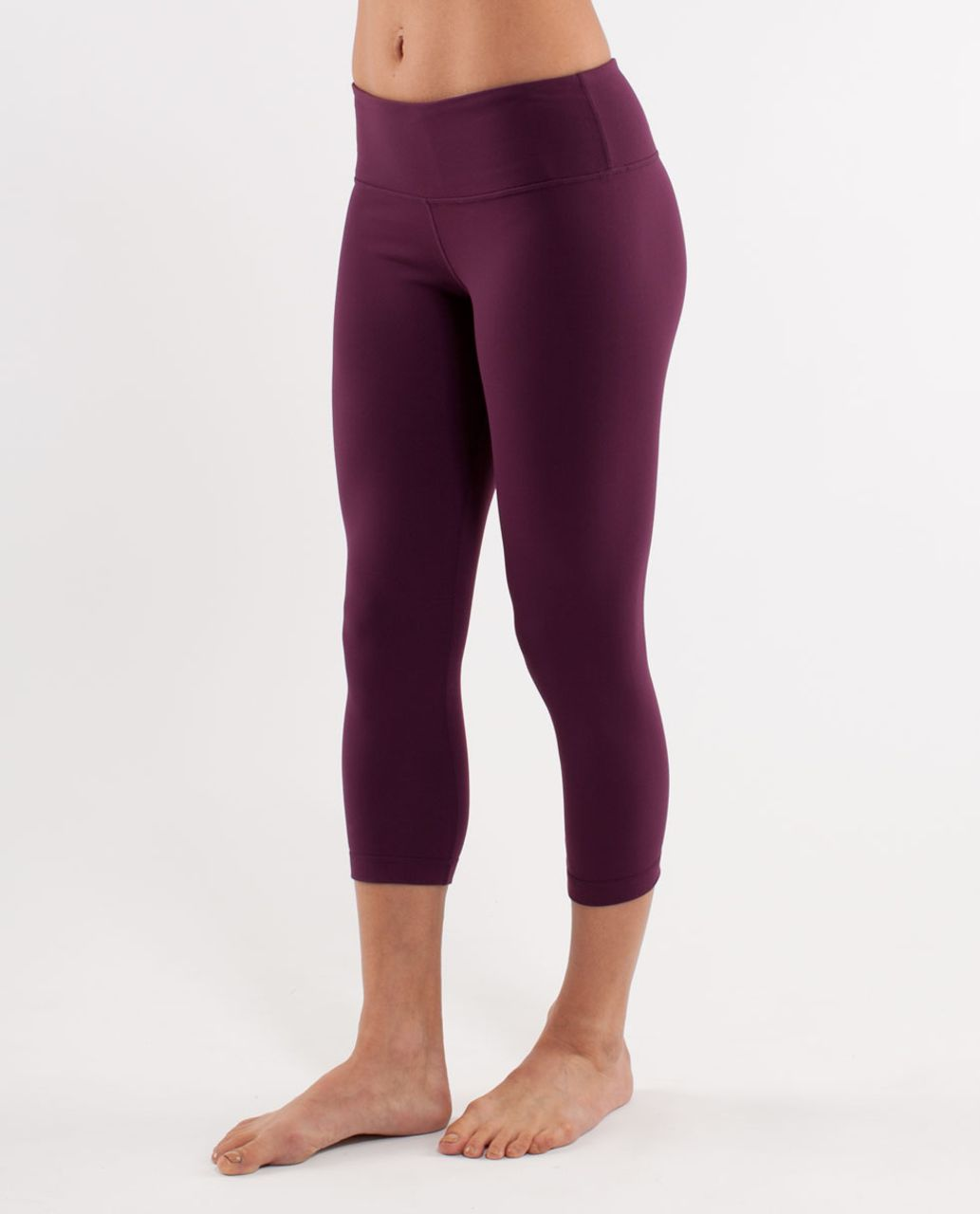Lululemon Wunder Under Crop - Plum
