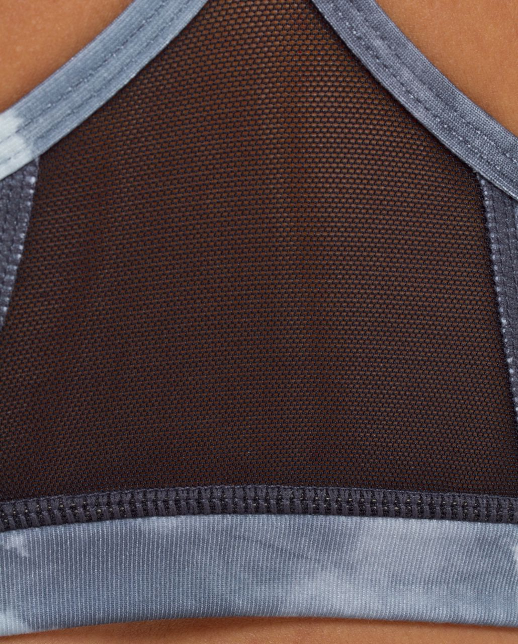 Lululemon Flow Y Bra IV - White Coal Tinted Canvas Super
