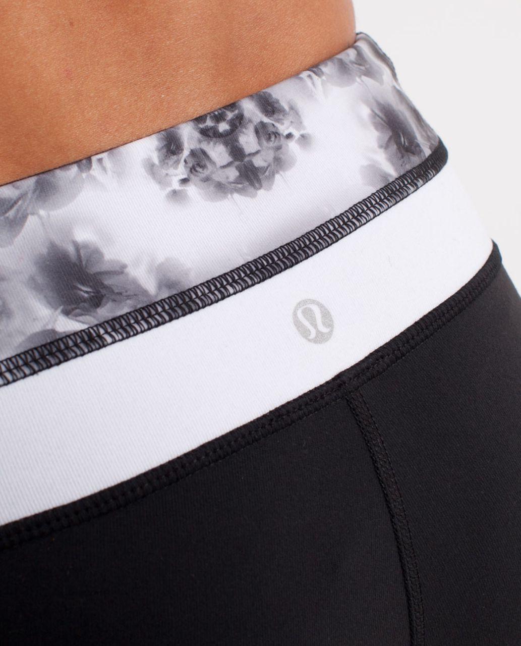 Lululemon Groove Pant (Regular) - Black /  Black Roses Print /  White