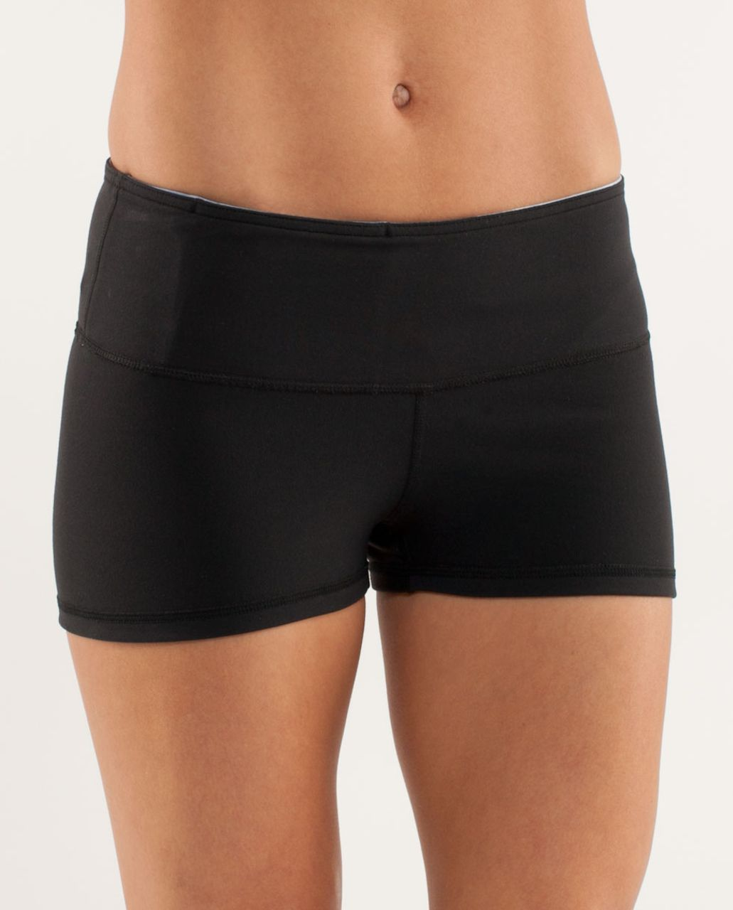 Lululemon Boogie Short - Black /  White Coal Tinted Canvas Super