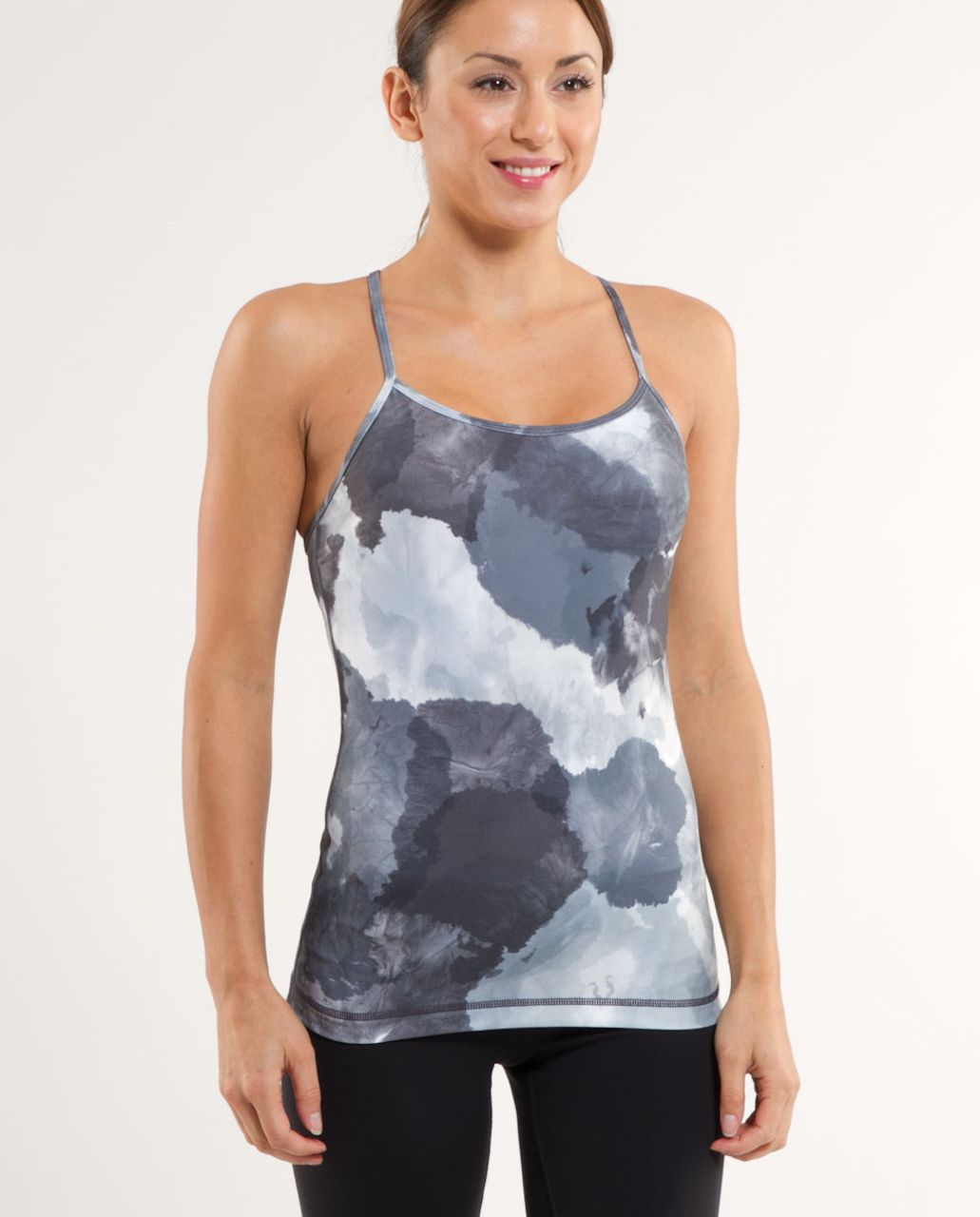 Lululemon Power Y Tank - White Coal Tinted Canvas Super