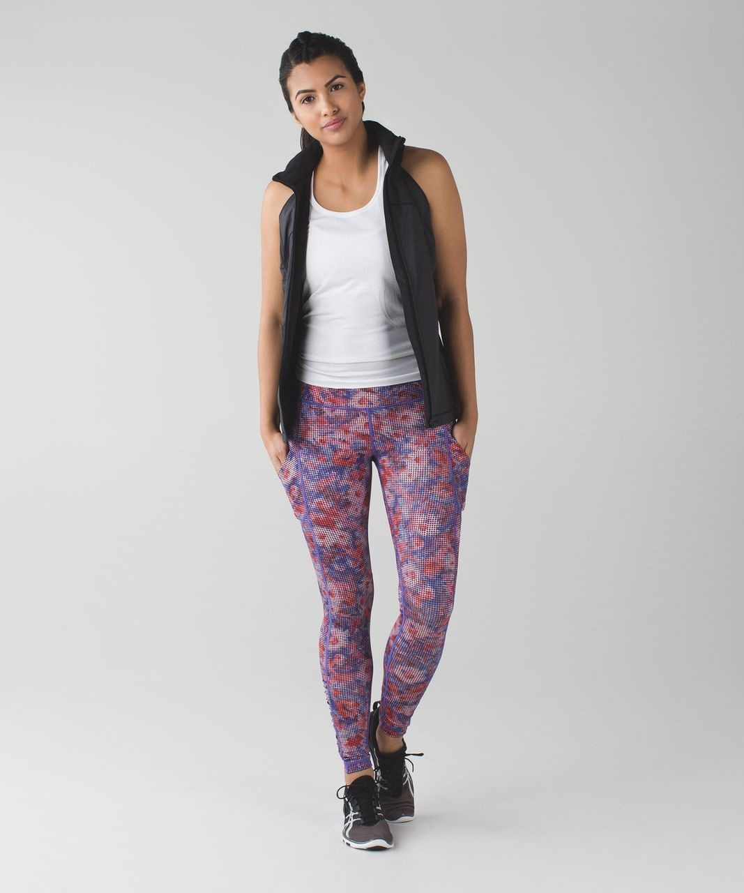 Lululemon Speed Tight IV - Checker Blooms Multi