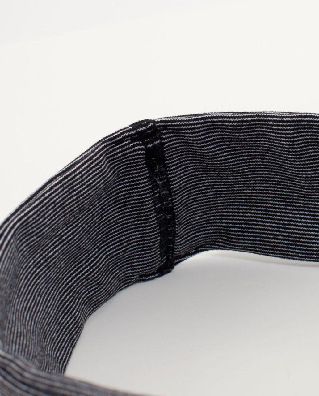 Lululemon Lucky Luon Headband - White Black Mircostripe