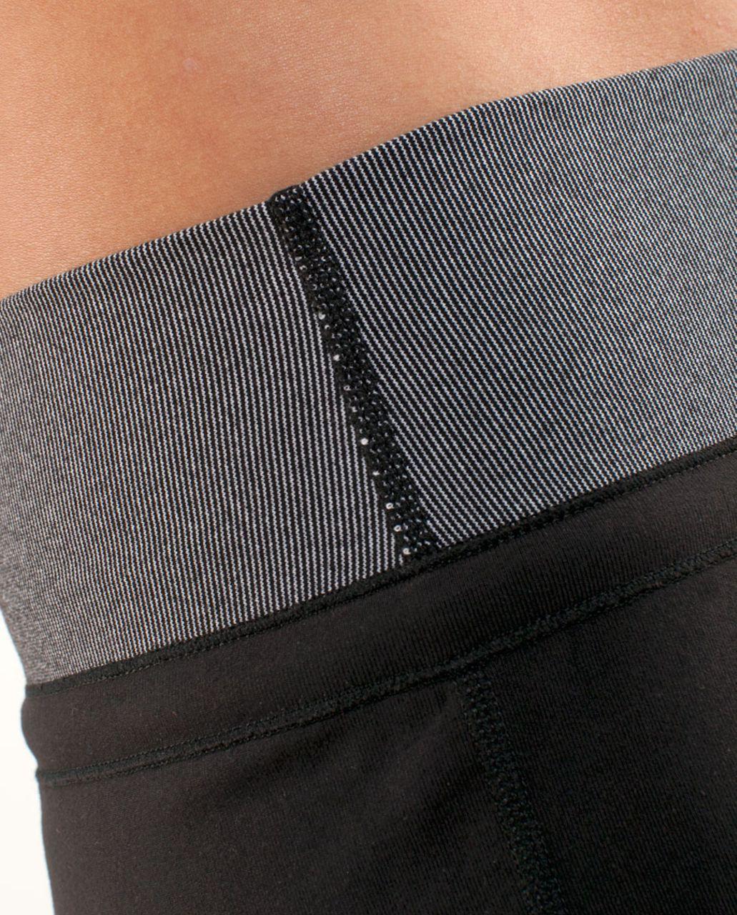 Lululemon Knock Out Short - Black /  Black Microstripe